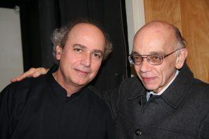 With El Sistema founder Jose Antonio Abreu after conducting the Simon Bolivar Youth Orchestra of Venezuela (2008)