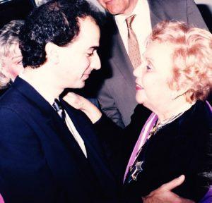 With Alegria Beracasa (Caracas, 1986)
