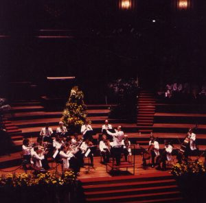 Concert with the Concertgebouw Chamber Orchestra in their great hall (Amsterdam, 1989)