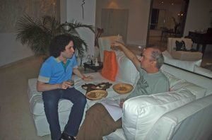 With Gustavo Dudamel at home (2007)