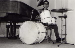 Playing drums (Caracas, 1961)