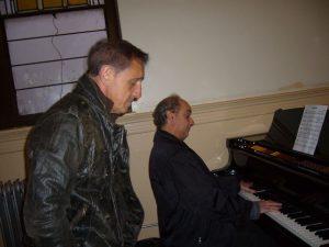 With pop artist Franco De Vita rehearsing for the presentation of his ASCAP Award Show (New York, 2007)