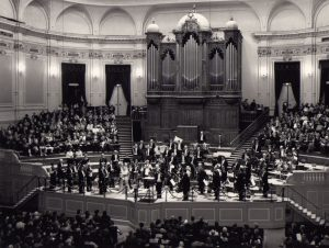 On tour with the Gelders Orkest conducting at the Concertgebouw (Amsterdam, 1988)