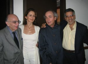 With maestro Jose Antonio Abreu, Athina, & composer Alfredo Rugeles (Caracas, 2005)