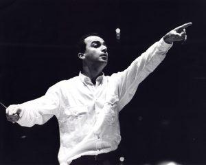 Rehearsing with the Orquesta Filarmónica de Caracas (Caracas, 1981)