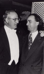 With Salvatore Accardo after playing Brahms (Caracas, 1991)