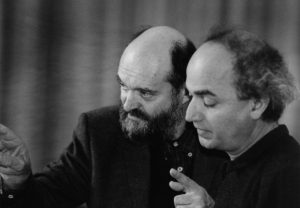With Arvo Pärt rehearsing his music before our Berliner Symphoniker (Latin America tour, 2001)