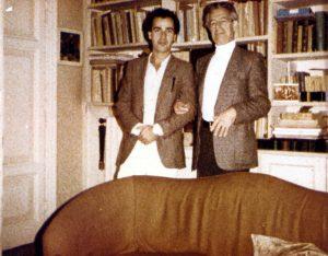With conducting teacher Franco Ferrara (Rome, 1978)