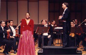 With Barbara Hendricks singing Mozart (Caracas, 1990)