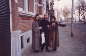 With wife Athina and pianist Shoko Sugitani before our Netherlands tour with the Bohemian Chamber Philharmonic (Czech Republic, 1996)