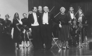 With Rostropovitch playing Haydn Cello Concerto in C Major (Caracas, 1989)
