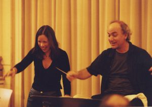 In Berlin recording with Fredrika Brillembourg prior to our Berliner Symphoniker Latin America tour (Latin America Tour, 2001)