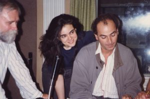 With Karin Lechner recording Brahms Piano Concerto No. 1 (Berlin, 1991)