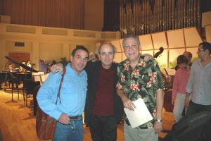 With flutist Luis Julio Toro and composer Paquito D'Rivera at the South Florida premiere of his flute concerto with the MSO (2006)